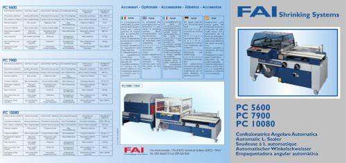 PC5600/7900/1080 AUTOMATIC L-SEALER