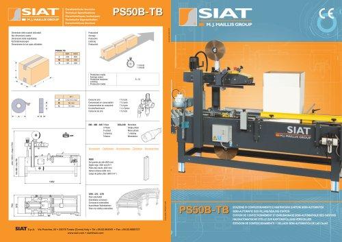 PS50-B & TB Semi-Automatic single block case former & sealer