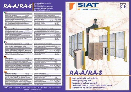 RA-S The rotating arm machines range
