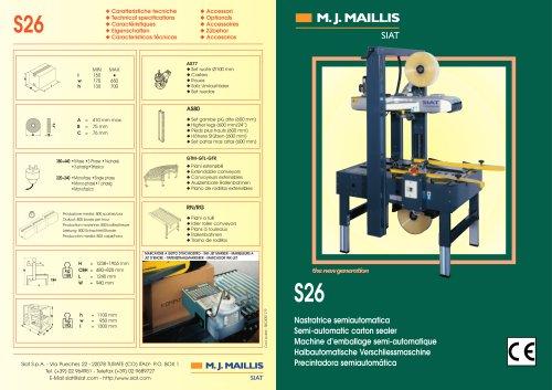 S26 Semi automatic carton sealer range