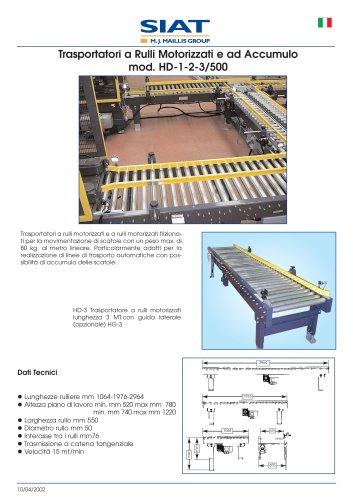 Siat - Idler roller motorized conveyors and for storage (it,en,fr,de)