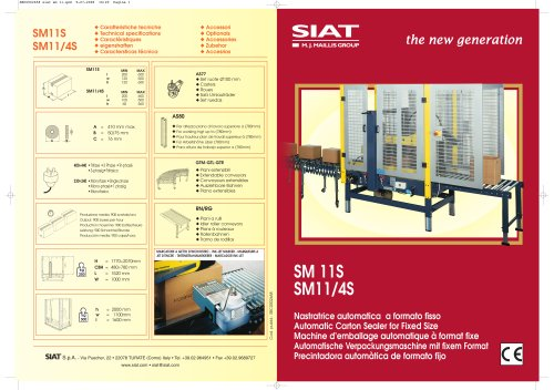SM11 - Automatic Carton Sealer for Fixed Size
