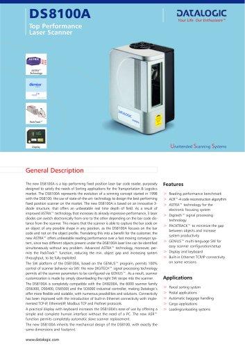 DS8100A Laser Scanner