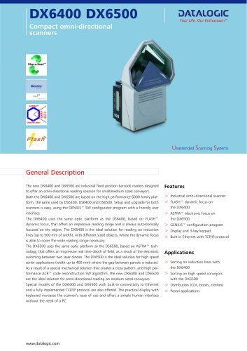 DX6400 DX6500 Compact omni-directional scanners