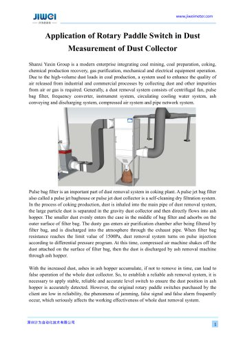 Application of Rotary Paddle Switch in Dust Measurement of Dust Collector