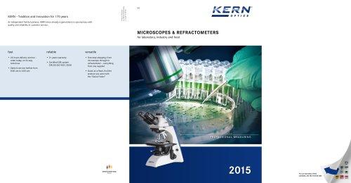 Microscopes & Refractometers