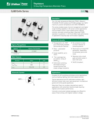Thyristors QJ8012xHx Series