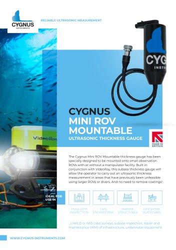 Cygnus Mini ROV Mountable Ultrasonic Thickness Gauge