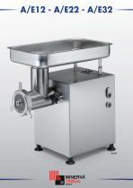 Table-top meat grinder A/E12 - A/E22 - A/E32