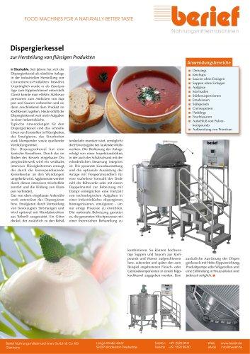 Dispergierkessel zur Herstellung von flüssigen Produkten