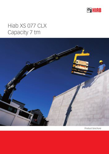 Hiab XS 077 CLX Capacity 7 tm