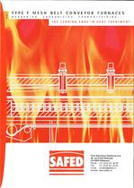 type T mesh belt conveyor furnace