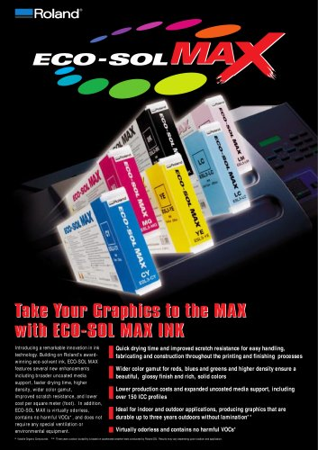 ECO-SOL MAX Ink For Roland Eco-Solvent Printers and Printer/Cutters