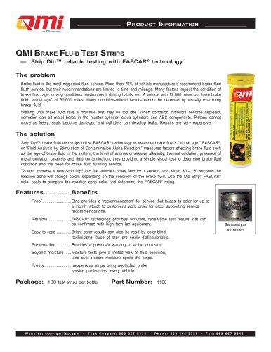 QMI Brake Fluid Test Strips