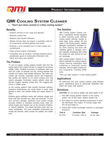 QMI Cooling System Cleaner