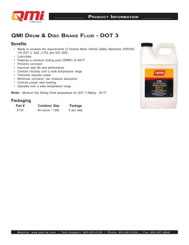 QMI DRUM & DISC BRAKE FLUID - DOT 3