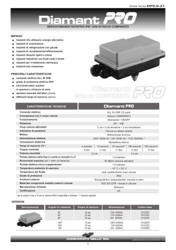 Servocomandi IP67 DIAMANT PRO