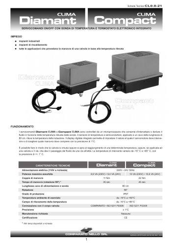 Servocomandi con termostato elettronico integrato CLIMA