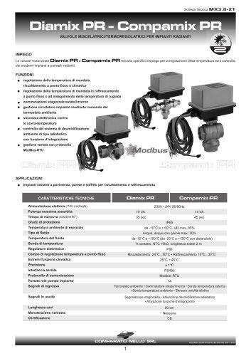 Valvola miscelatrice per pannelli radianti GAMMA MIX PR