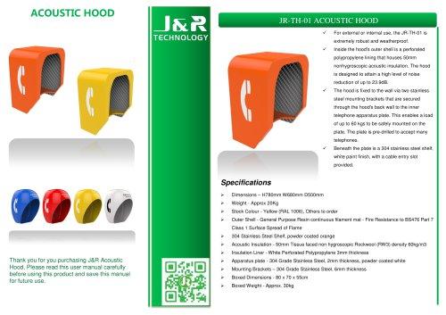 Cabina telefonica a prova di suono JR-TH-01