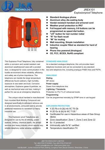 Prova di esplosione IECEX Mine Telephone JREX-01