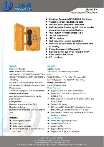 telefono industriale JR101-FK