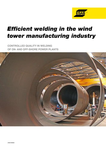 Efficient welding in the wind tower manufacturing industry