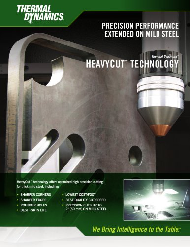 Thermal Dynamics Precision Performance HeavyCut Technology