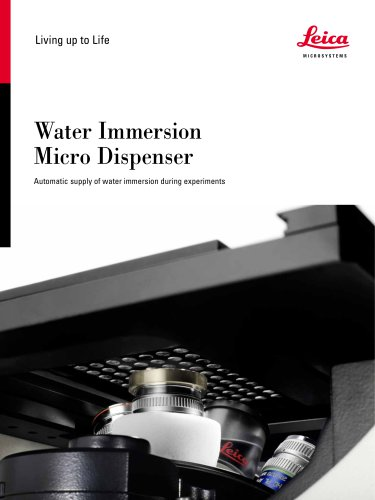 Water Immersion Micro Dispenser
