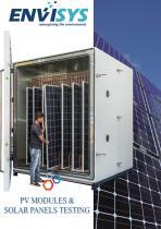 SOLAR PANELS / PV MODULE TESTING CHAMBER