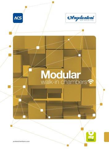 Modular walk-in T and RH test chambers