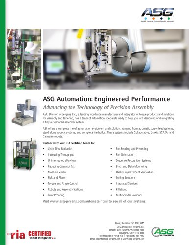 ASG Automation: Engineered Performance