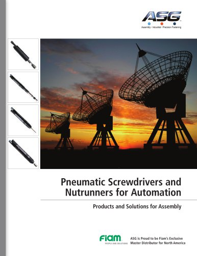 Pneumatic Screwdrivers and Nutrunners for Automation Products and Solutions for Assembly