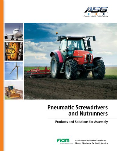 Pneumatic Screwdrivers and Nutrunners Products and Solutions for Assembly