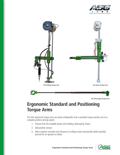 Standard and Positioning Torque Arms