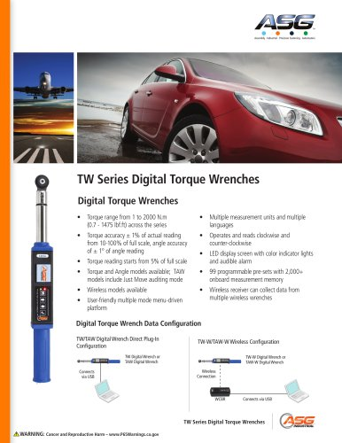 TW Series Digital Torque Wrenches