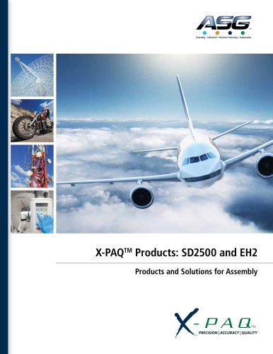 X-PAQ™ Products: SD2500 & EH2 CATALOG
