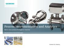 Process Instrumentation and Analytics: Best-in-class products for hygienic industries