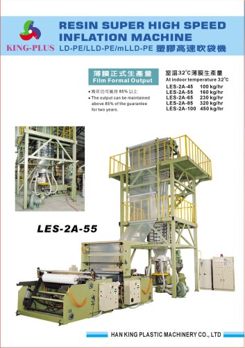 LDPE Super High Speed Blown Film Machine