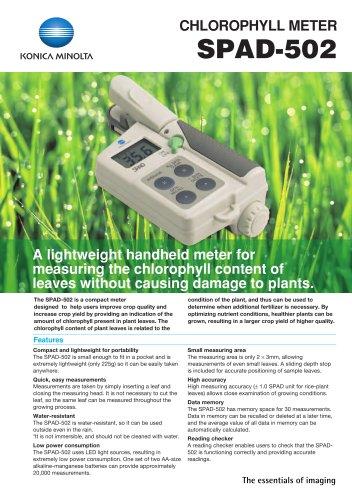 Chlorophyll Meter SPAD-502