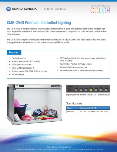 CMB-2540 Premium Controlled Lighting