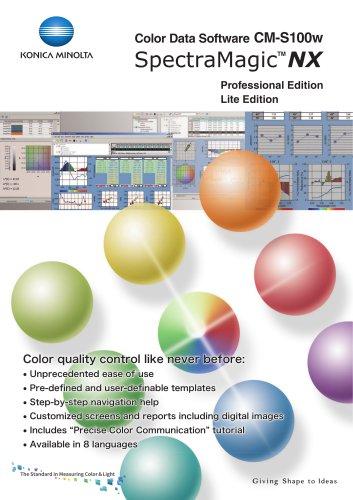 Color Data Software CM-S100w SpectraMagic NX