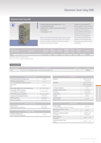 Electronic level relay ENR