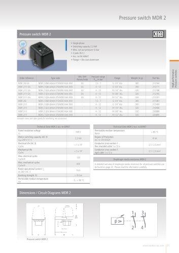 Pressure switch MDR 2