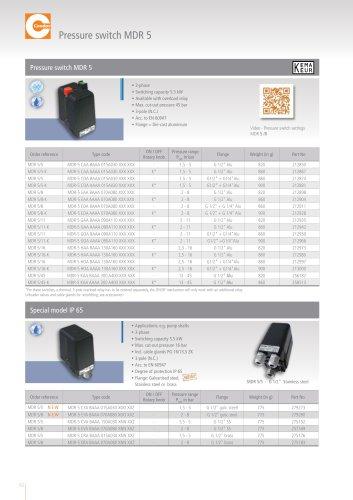 Pressure switch MDR 5