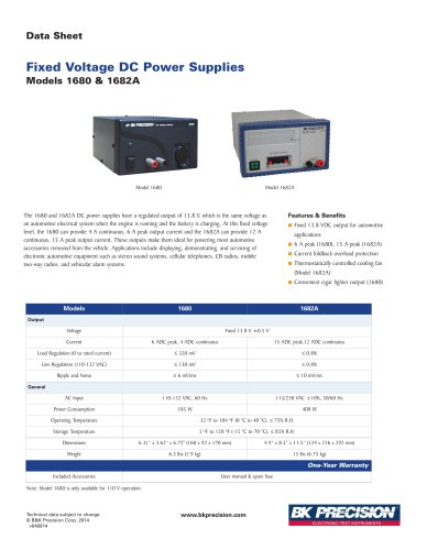 13.8V 4A DC Power Supply Model 1680