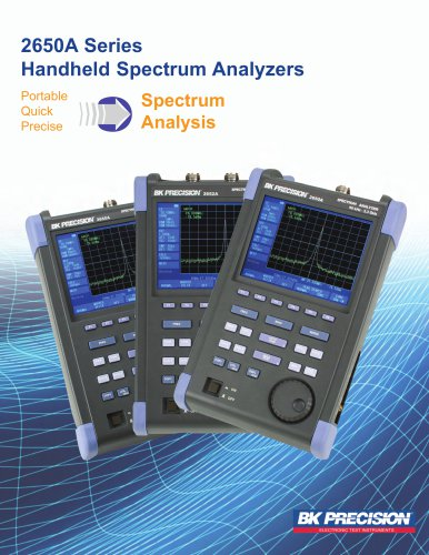 2650A Series Spectrum Analyzers Brochure