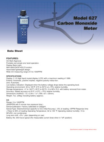 Carbon Monoxide (CO) Meter