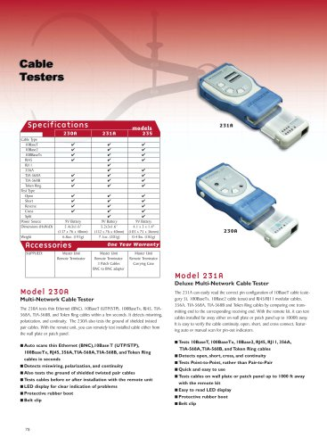 Deluxe Multi-Network Cable Tester