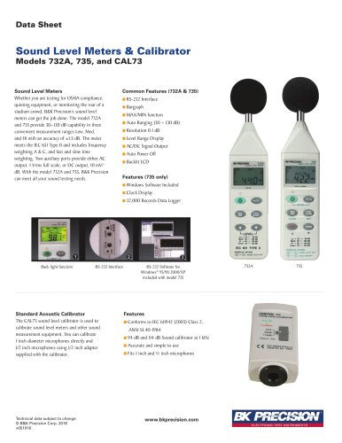 Digital Sound Level Meter with RS 232 Capability